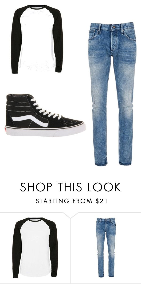 """teenage boy"" by sushi20 ❤ liked on Polyvore featuring Topman, Denham, Vans, men's fashion and menswear"