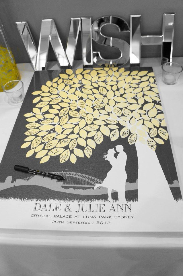 thumbprint wedding tree with silhouette couple - Google Search