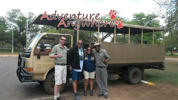 Doug with guests Tim & Ayoka Richardson from the USA in Pilanesberg National Park #adventure #safari