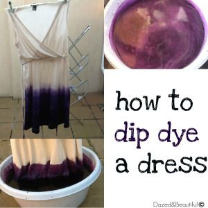 Dress Dip Dye DIY -- going to do this to a maternity dress I just bought at Target.