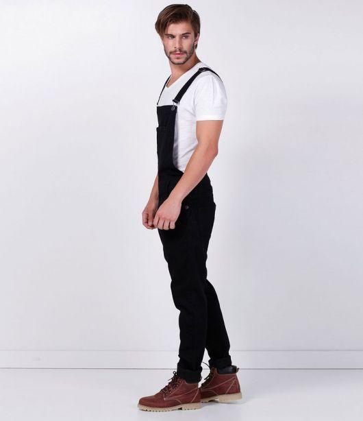 a603006c0fa030 jardineira-masculina-preta-2 | #fashion #Life #Style #Free ...