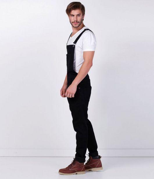 5ee0db0d634064 jardineira-masculina-preta-2 | #fashion #Life #Style #Free ...