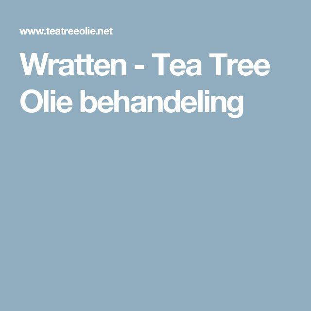 Wratten - Tea Tree Olie behandeling