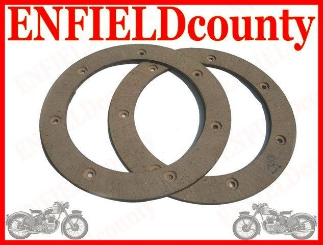 NEW ROYAL ENFIELD CLUTCH FRICTION DISC & RIVETS 144291