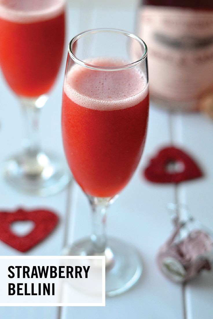 Give your favorite bubbly a little love this summer by infusing it into a refreshing cocktail recipe! These 2-Ingredient Strawberry Bellinis are made with fruit puree and your favorite champagne—seriously that's it, they couldn't be easier.