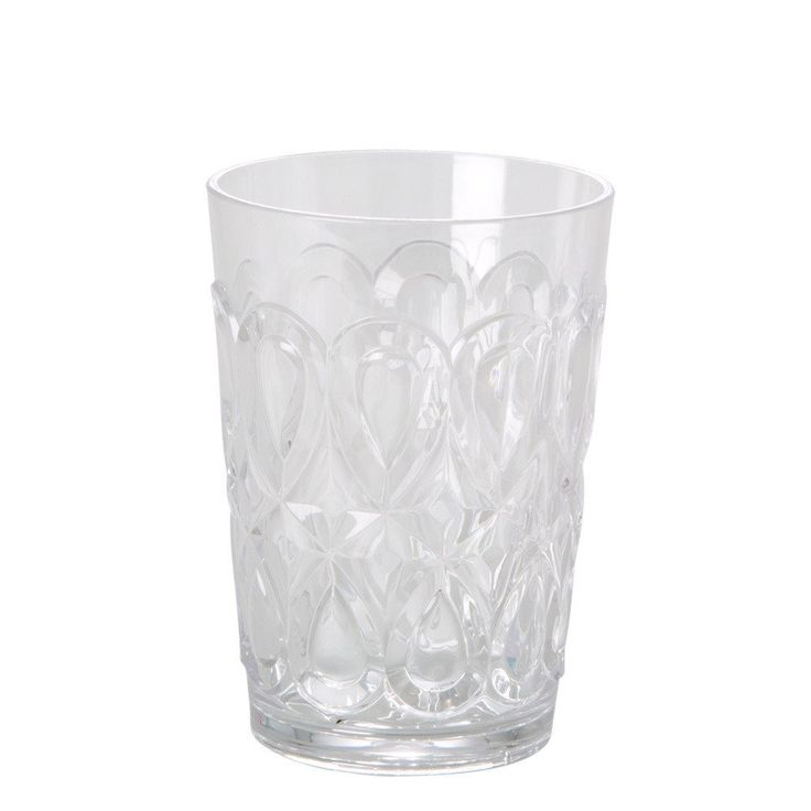 Swirly Embossed Tumbler - Clear