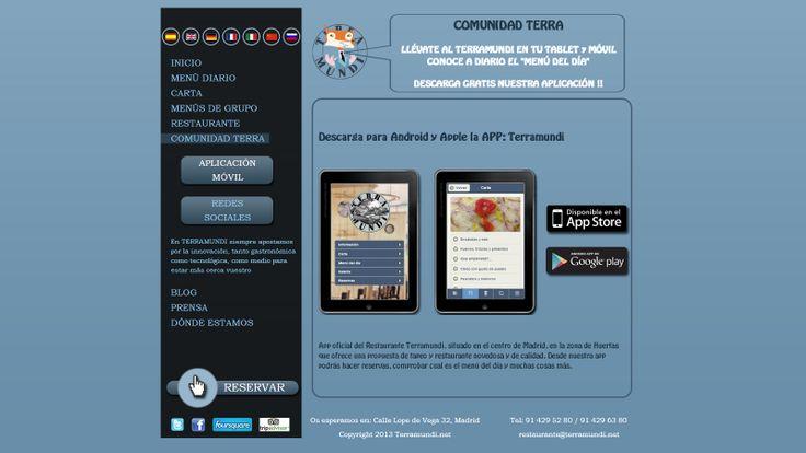 Vista de la Comunidad Terra online, destacando la #App personalizada que hemos realizado.