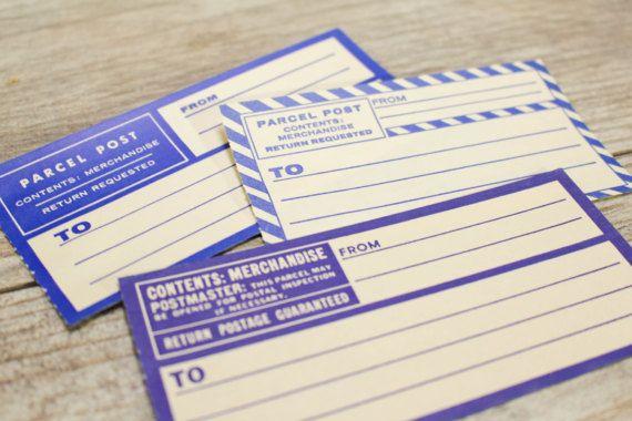 Dennisons Labels Parcel Post Mail Address Blue Labels direct