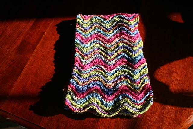 Sock yarn scarf