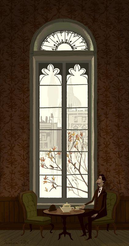 Tea Time #illustration / L'Ora del Tè #illustrazione - Art by Chris Turnham