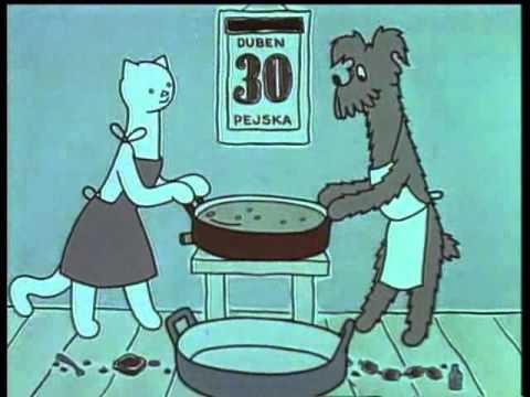 Povídání o Pejskovi a Kočičce - Jak si pejsek s kočičkou dělali dort - YouTube