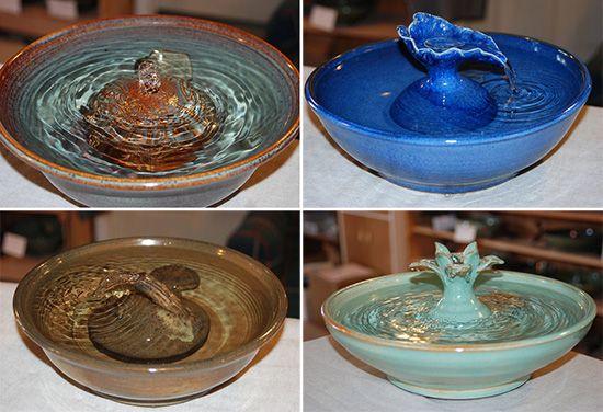Handmade Ceramic Cat Drinking Fountains