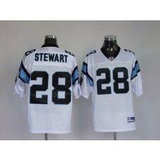 Panthers #28 Jonathan Stewart White Stitched NFL Jersey