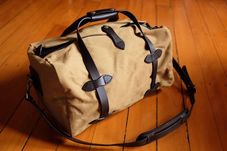 Filson Duffle Bag - Small - tan leather.