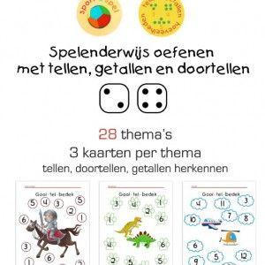Een werkvorm die kinderen spelenderwijs laat oefenen met tellen, getallen en doortellen? Dat is gooi-tel-bedek! De spelers gooien om de beur...