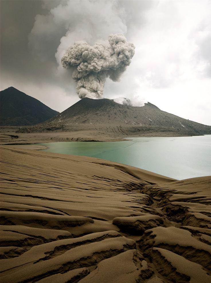 Tavurvur volcano near Rabaul in Papua New Guinea