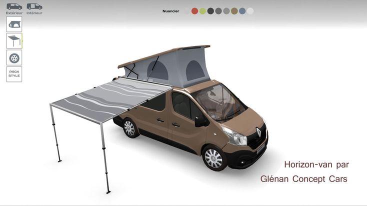 """Grâce à l'application """"Horizon-van Configurateur 3D"""" vous aurez désormais la possibilité de personnalisez l'intérieur et l'extérieur de votre van-aménagé."""