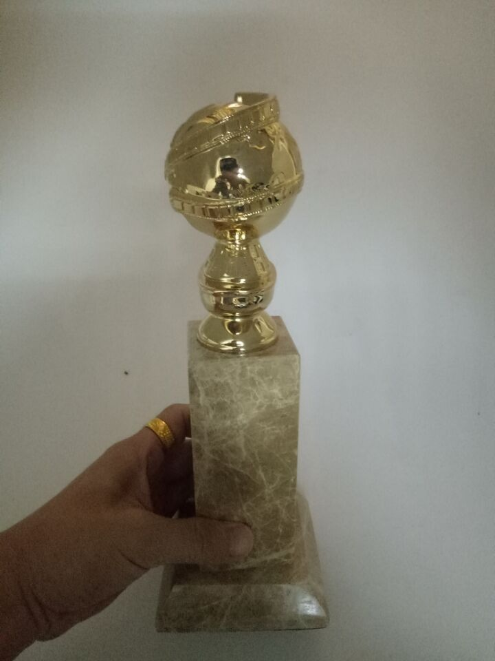 178.00$  Buy here - http://ainfv.worlditems.win/all/product.php?id=32749069515 - Golden Globe Award Trophy (10 Inches) with HFPA Logo Stamped In Gold-