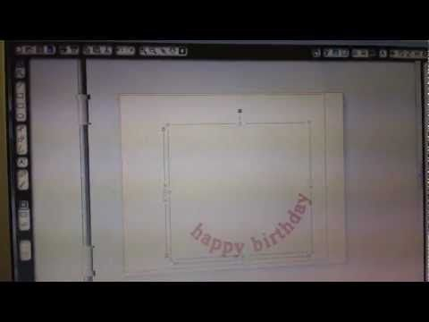 Curved Lettering Using Silhouette Studio - YouTube