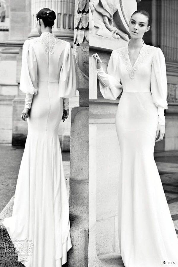berta bridal 2013 bishop sleeve wedding dress