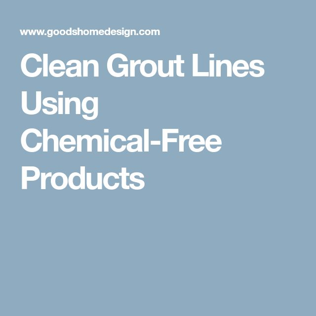 how to clean white grout lines