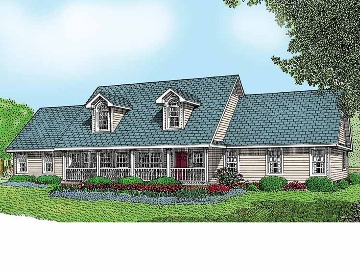 Eplans Farmhouse House Plan Country Ranch 1954 Square