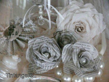 Розы из книжных страниц. Мастер-класс | Домохозяйка