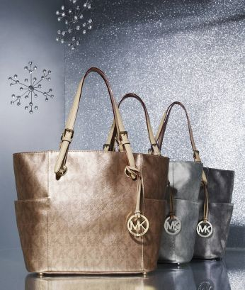 Tote-ally awesome! Michael Michael Kors metallic signature totes.