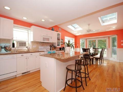 A photo of my coral kitchen that I randomly came across on Pinterest