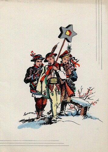 Vintage Polish Christmas Card