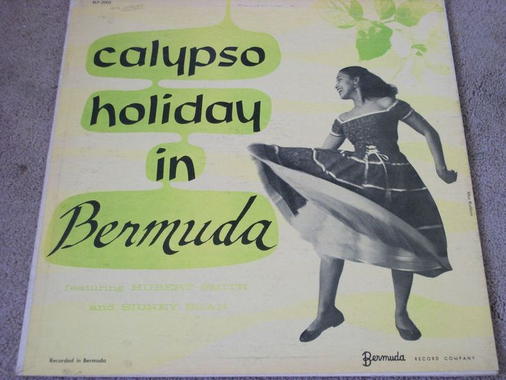"Calypso Holiday In Bermuda / Hubert Smith / Sidney Bean / 12"" Vinyl LP Record #Calypso #Music #Album"