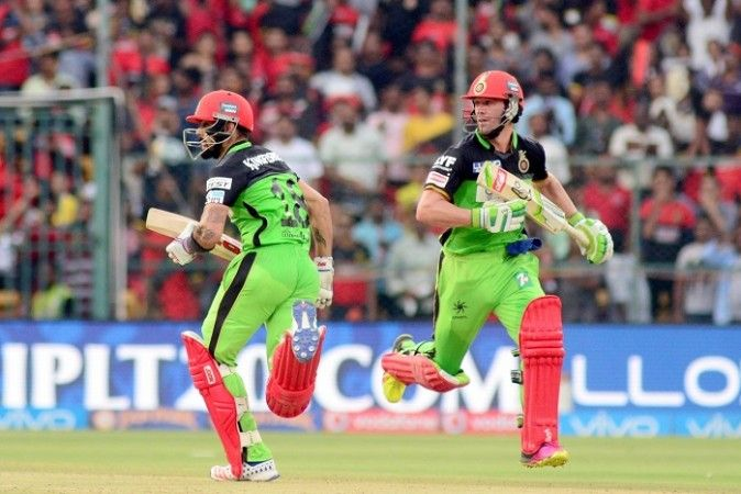 All eyes will be on Virat Kohli and AB De Villiers for this IPL 2016 match. Pictured: Kohli and De Villiers during their world record partnership against the Gujarat Lions, May 14, 2016