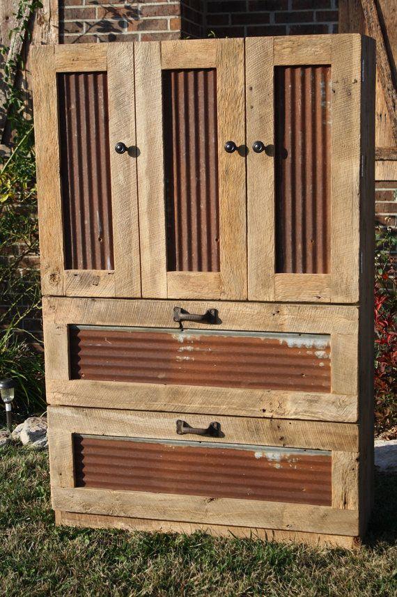 YOUR Custom Rustic Barn Wood Tall Dresser on Etsy, $700.00