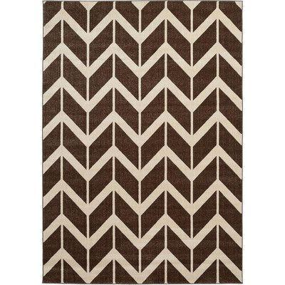Unique Loom Chevron Brown Area Rug & Reviews   Wayfair