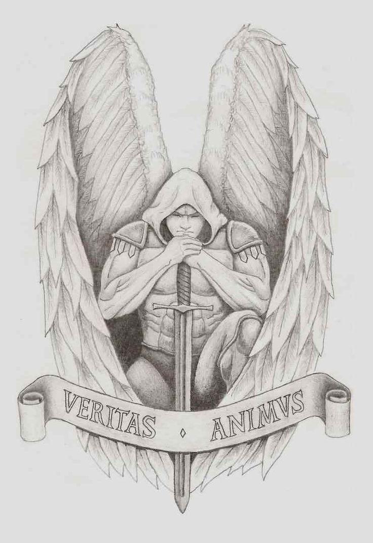 Archangel Gabriel Tattoo Design For Girls | Tattoobite.com