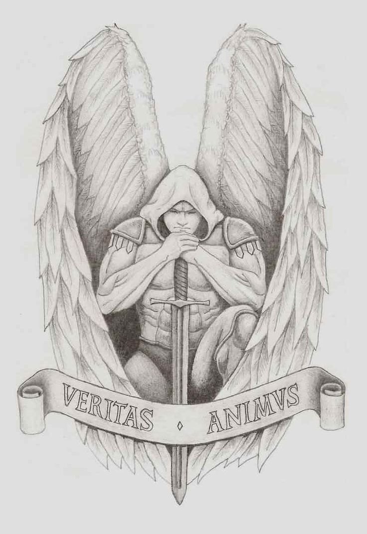 Archangel Gabriel Tattoo Design For Girls | Tattoobite.com