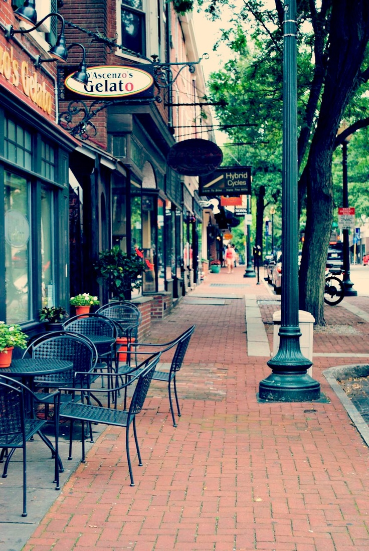 The streets of West Chester are lined with shops, restaurants, and bars.