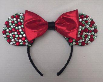 christmas mickey ears etsy more - Disney Christmas Ears