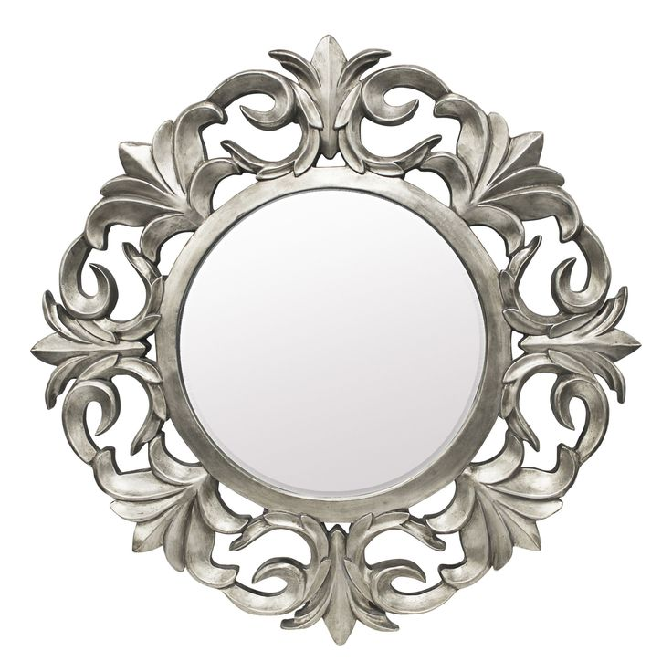 Colours Ashton Pewter Effect Framed Circular Mirror