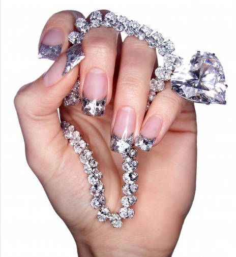 Fashion and Beauty Galore: Diamonds Nails, Nails Art, Nailart, Nails Design, Beautiful, Diamond Nails, Bling Nails, Nail Art, Bling Bling