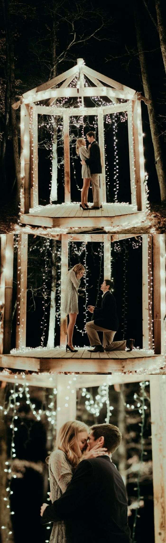 This holiday proposal is so romantic and full of love!