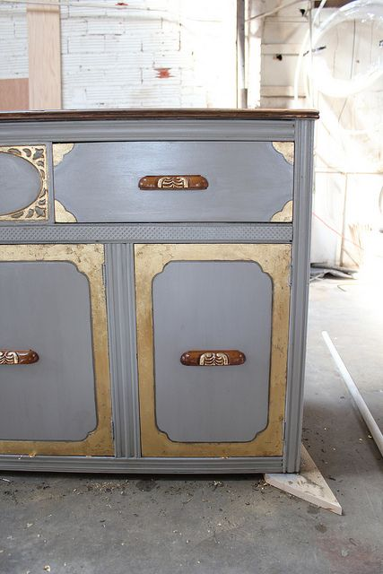 Use Gold Paint To Medieval Ize Furniture