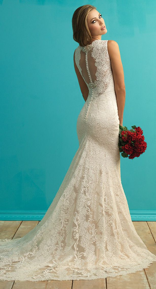Lovely Allure Bridals Fall Skinny Wedding DressShort