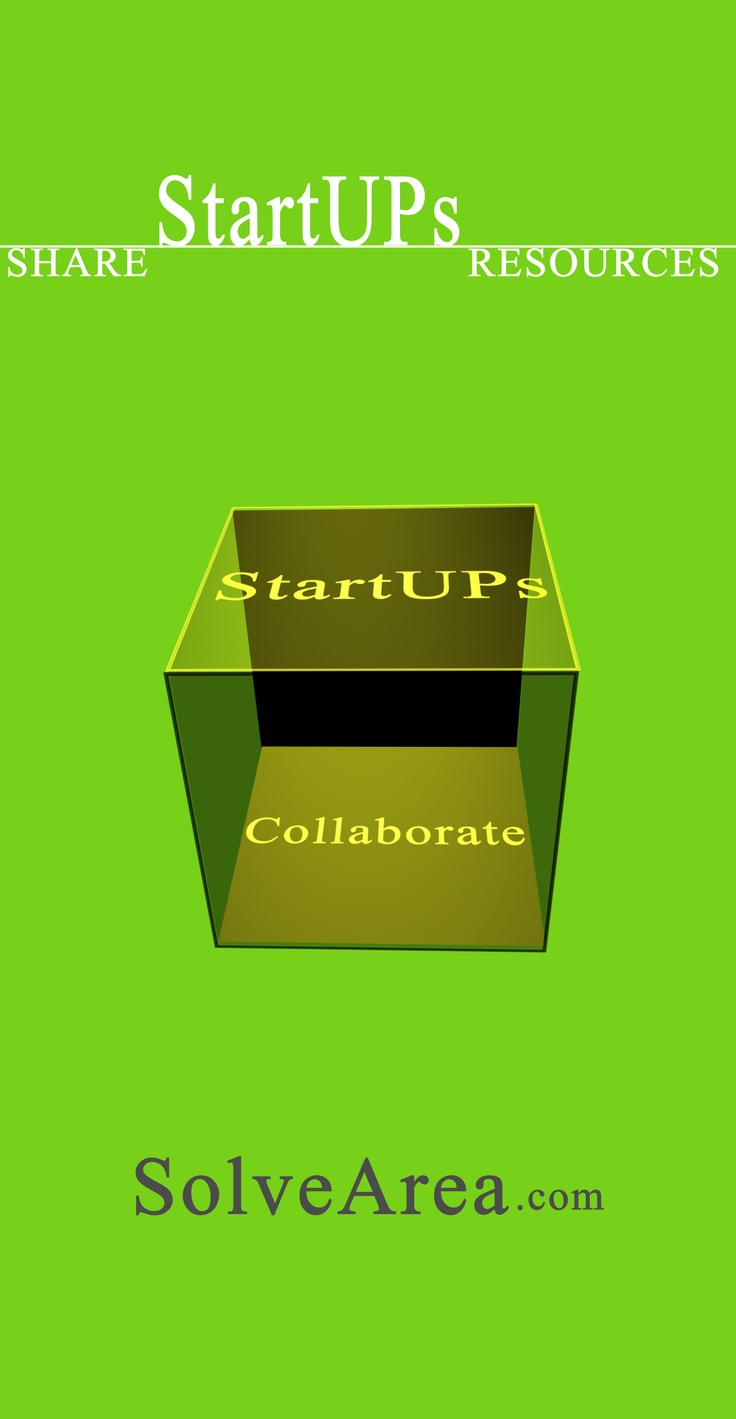 StartUps Collaborate & Share Business Resources on SolveArea.com