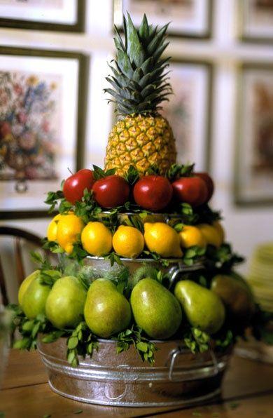 Christmas Centerpiece Seasonal Decorating Fruit