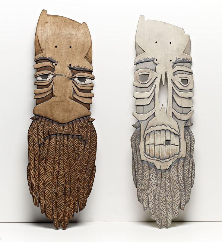 Hand carved skate decks.  http://www.goodeugene.com