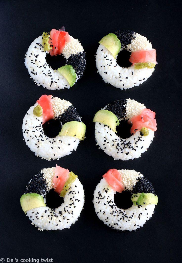 Les sushi donuts sont les nouveaux sushis. Réalisés ici en version vegan et sans gluten, ils sont également parfaitement sains. On les adore ! | Del's cooking twist