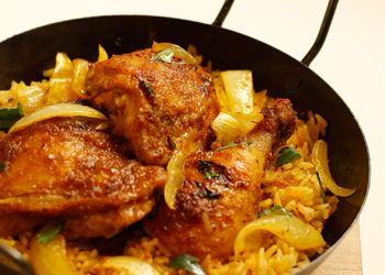 Spicy Roasted Chicken & Rice   (serves 6)
