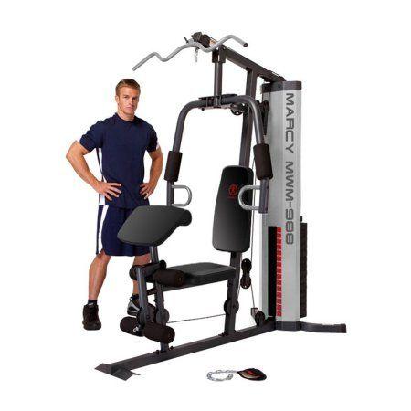 Marcy 150-Pound Stack Home Gym, Black
