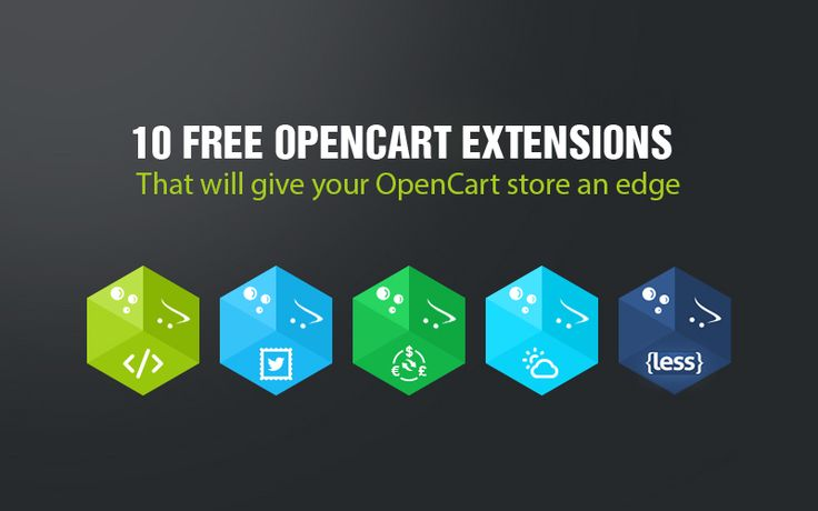 10 best free ‪#‎opencart‬ extensions to maximize your online selling.